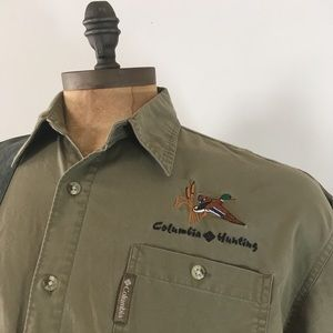 Columbia Briarshun Khaki Hunting Shirt Large Duck